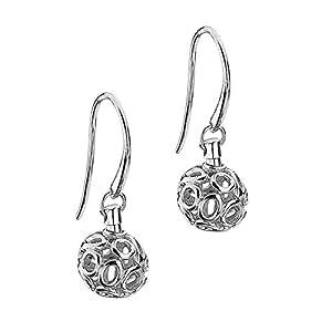Lily & Lotty Chloe earrings - Pendientes de plata de ley con diamante (.01) con cierre de gancho