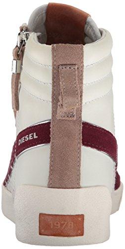 Diesel D-velows D-string Plus Bas Sneaker Sale Blanc / Chinchilla