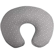 Enovoe Nursing Pillow Cover - Unisex Design for Boys and Girls - Soft and Breathable Breastfeeding Pillow Slipcover - Grey