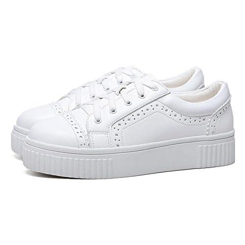 d98a2c77cb9 La Sra primavera y otoño Colegio viento zapatos casuales zapatos elevadores  zapatos de la corteza gruesa
