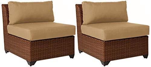 TK Classics TKC025b-AS-DB Laguna Armless Sofa, Set of 2, Wheat