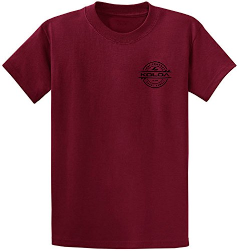 Koloa Surf Thruster Design Heavy Cotton Tee-S-Cardinal/b