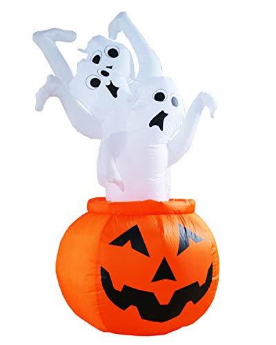 SEASONBLOW 7 Ft Halloween Decoration Inflatable Ghost Escape
