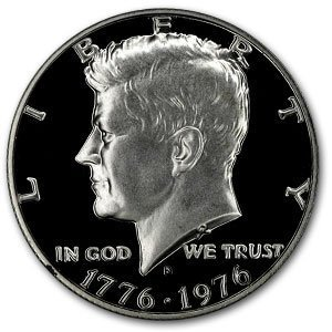 1976 S 40% Silver Proof Kennedy Half Dollar US Mint Gem Deep Cameo