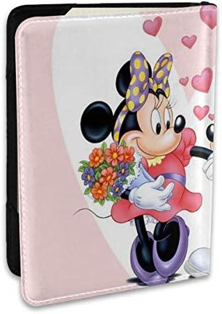 ミッキーマウス パスポートケース 6.5インチ 防水 軽量 パスポートバッグ 旅行 薄型 パスポートホルダー 航空券対応 パスポートポーチ 男女兼用 PU カードケース スキミング防止 かわいい おしゃれ