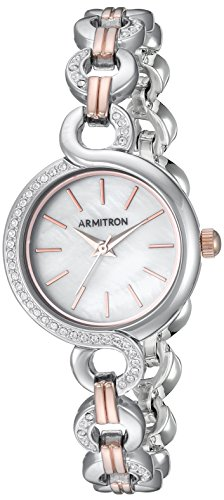 Armitron Women's 75/5485MPTRST Swarovski Crystal Accented Two-Tone Watch and Bracelet Set