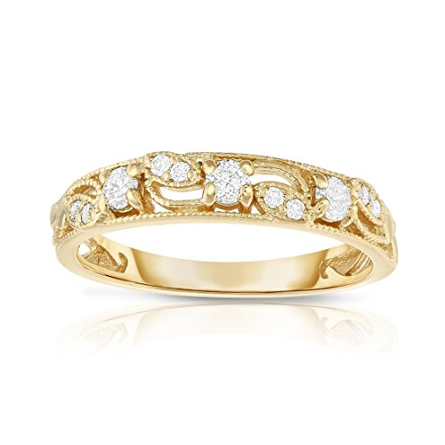 Noray Designs 14K Yellow Gold 1/4 Ct, G-H, SI2-I1 Clarity) Stackable Ring by Noray Designs