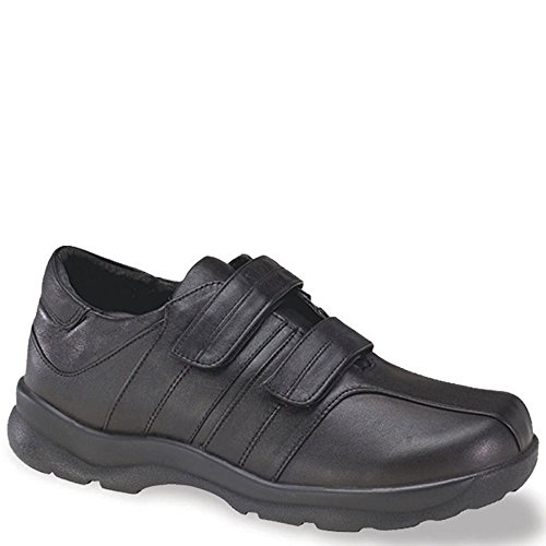 Apex Men's Y800M Velcro Black Walking Shoes - Size 14 B(M) (Aetrex Mens Dress)