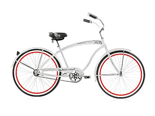 Beach Cruiser in White by Micargi Bicycles