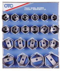 (OTC 9850 6-Point Wheel Bearing Locknut Socket with Tool Board)