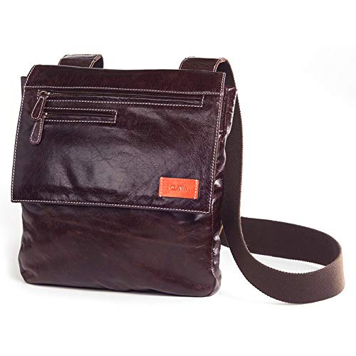 Clava Glazed Leather Sonoma Mailbag in Glazed Cafe