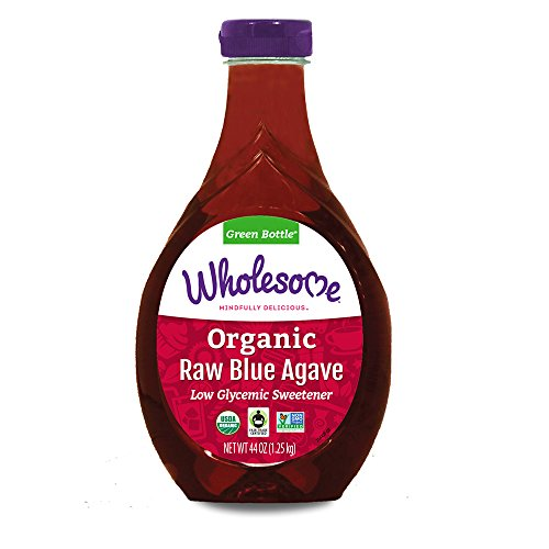 Wholesome Organic Raw Blue Agave Nectar, Syrup, Low Glycemic Sweetener, Non GMO, 44 Oz (Pack of ()