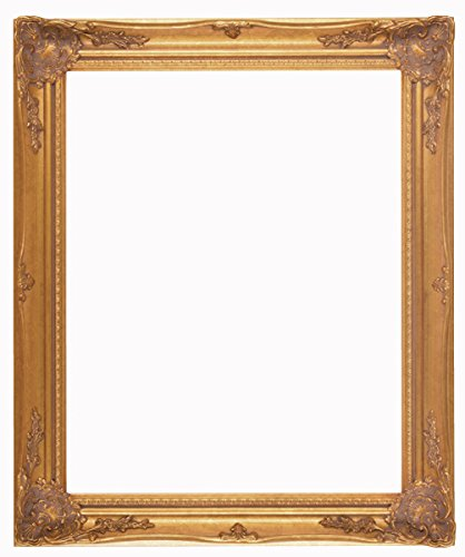 Raphael Rozen Hanging Wall Framed Colonial Baroque Styled Artisan Hand Carved Hanging Wall Mirror Elegant – Modern – Classic – Vintage (24×36, Antique Gold) Review