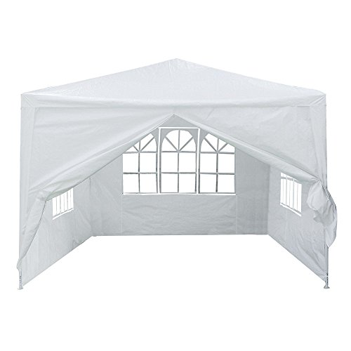 Yescom 10x10' White Outdoor Wedding Party Patio w/Removable Side Wall Canopy for Fetes Event by Yescom (Image #4)'