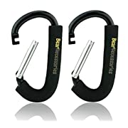 Handy Stroller Hooks, Perfect Stroller Accessories Clips On Any Baby Stroller Travel Systems and Jogger Stroller, Secure Purses, Diaper Bags, Shopping bags And Lots More