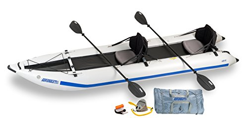 Sea Eagle 435 Paddle Ski Catamaran Inflatable Kayak with Pro
