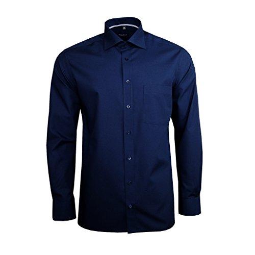 eterna -  Camicia classiche  - Uomo Blu Blau XL/44