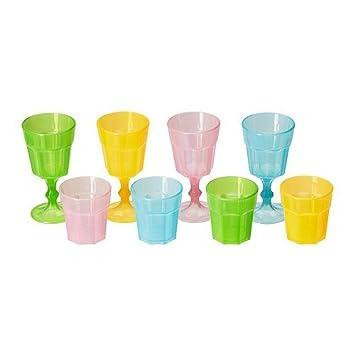 Ikea Kindergeschirr ikea duktig gläser in verschiedenen farben 8 stück amazon de