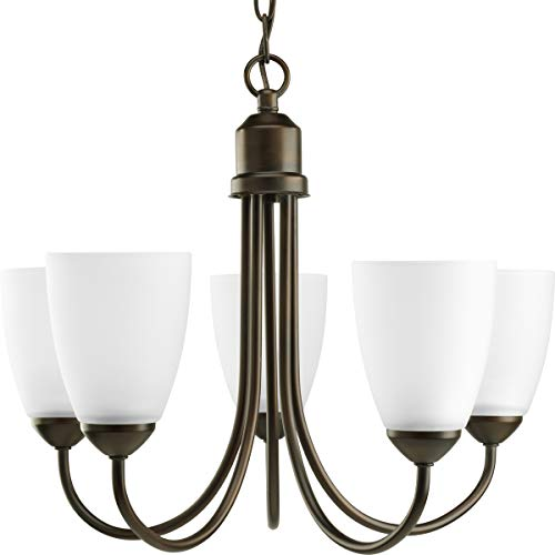 Progress Lighting P4441-20 Gather Collection 5-Light Chandelier, Antique Bronze