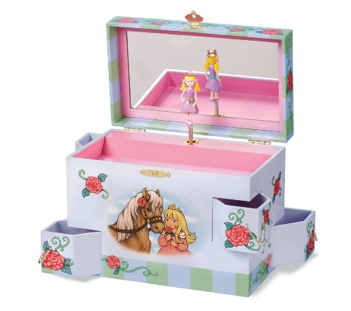 Enchantmints Rose Petal Princess Music Jewelry Box