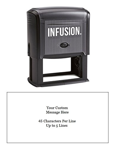 Infusion Custom Self-Inking Rubber Stamp - Large, Rectangular Return Address Stamp - (1-1/2