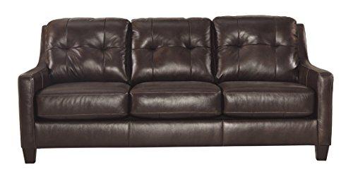 Ashley Furniture Signature Design - O'Kean Upholstered Leather Sofa - Contemporary - Mahogany