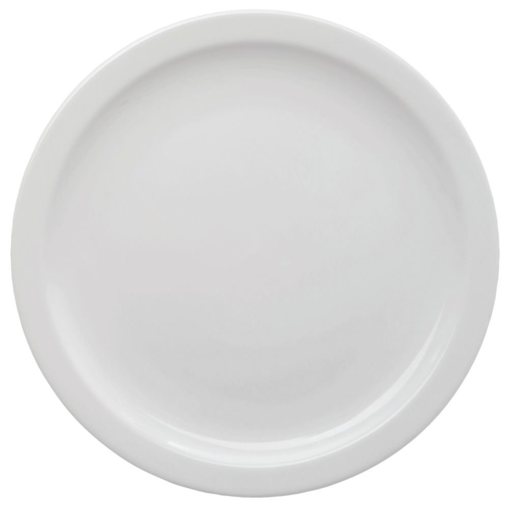 HUBERT Salad Plate Narrow-Rim Stoneware Bright White - 7 1/4 Dia 36 Per Case