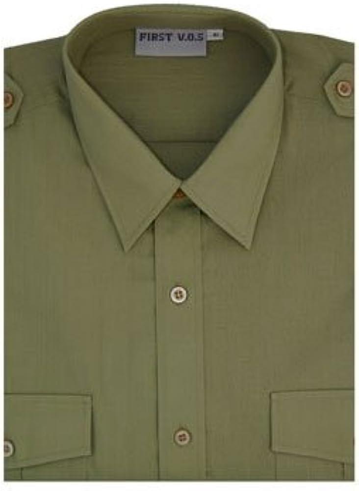 First - Camisa formal - Manga Corta - para hombre caqui 50 ...
