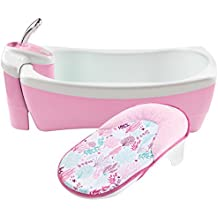 Summer Infant Lil Luxuries Whirlpool Bubbling Spa & Shower Bath Tub, Pink