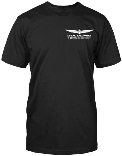 Honda Mens Goldwing Custom Collection Short-Sleeve T-Shirt/Tee, Black, (Honda Goldwing T-shirts)
