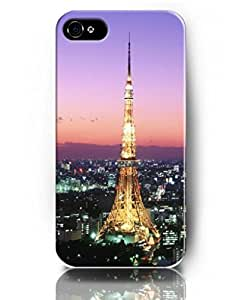 UKASE Mobil Phone Case for iPhone 4 4s with Amazing Designed Pattern of Eiffel tower in the Evening