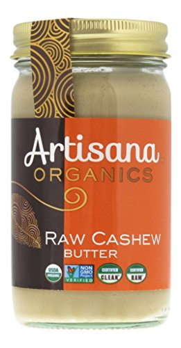 Artisana Organics - Cashew Nut Butter, USDA Organic Certified and Non-GMO Handmade Rich and Thick Spread (2-Pack, 14 oz)