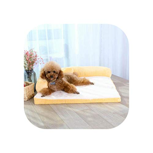 Removable Soft Pet Dog Sleeper Sofa Bed Winter Warm Tower Rest House Lounger Pets Mat Nest Large XL Dogs Mattress ()