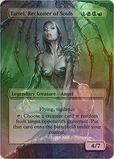 Tariel, Reckoner of Souls - Casual Play Only - Customs Altered Art Foil ()