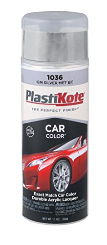 PlastiKote 1036 GM Silver Metallic Base Coat Automotive Touch-Up Paint - 11 oz. - 70 Somerset Island