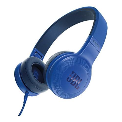 chollos oferta descuentos barato JBL E35 Auriculares Supraaurales en el Diseño Plegables con Universal de 1 Botones de Mando a Distancia y Micrófono extraíble Cable azul