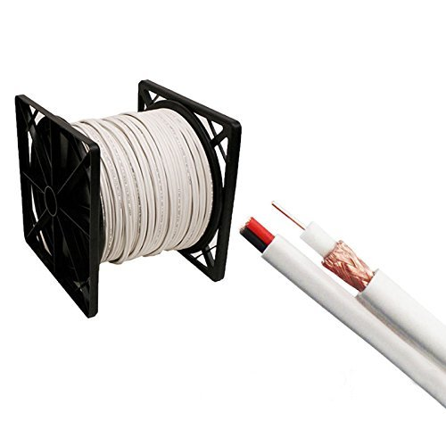 (Siamese Cable 500ft Rg59 95% Video & Power Wire Rg59/u Cctv Security Camera White cctv cable)
