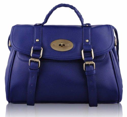 New Ladies Sale Bags Tote Designer Leather Shoulder Womens 5 Handbags Navy Large Design Faux vwfxq1