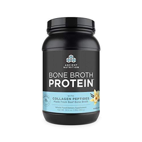 Ancient Nutrition Bone Broth Protein Powder, Vanilla Flavor, 30.2oz