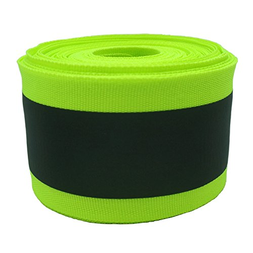 Eroilor Fabric Reflective Safety Tape Vest Trim Strip Sew on - 32 ft (10 Meter) - Larger Reflective Area - Green