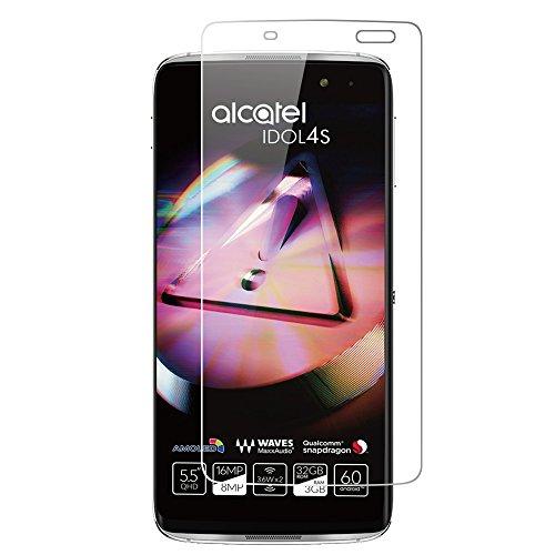 Alcatel Idol 4S Protector de Pantalla, Wrcibo [2 Pack] 9H 0.26mm Premium Vidrio Templado Protector de Pantalla Transparente Cristal Anti-scratch Anti-rasguñe Protector de Pantalla para Alcatel Idol 4S