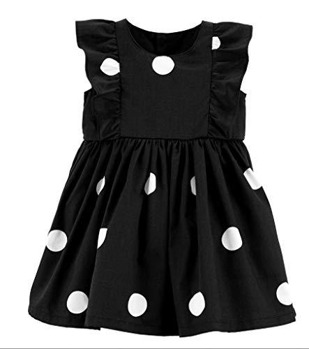 Carter's Girls' Dress (3 Months, Black/White Dots)