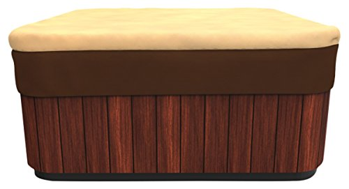 Budge All-Seasons Square Hot Tub Cover, Large (Khaki Brown)