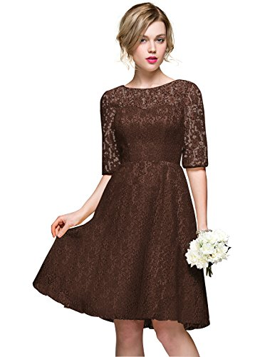 champagne and chocolate wedding dresses - 5