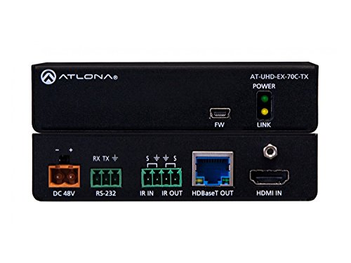 (Atlona AT-UHD-EX-70C-TX 4K/UHD HDMI Over HDBaseT Extender (Transmitter) with Control/PoE)