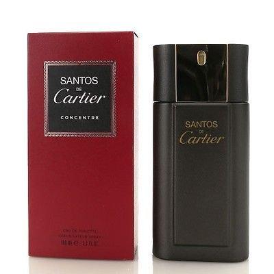 Santos De Cartier FOR MEN by Cartier - 3.4 oz EDT Spray Concentrate ()