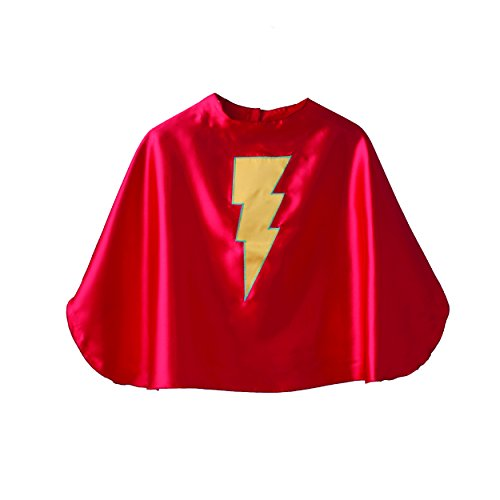 Superfly Kids Red Superhero Cape with Yellow Lightning Bolt