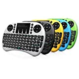 Themouseandkeyboard Rii Mini i8+ 2.4G Wireless 92 Keys Keyboard with Touchpad for Google TV Box/PS3/PC , green