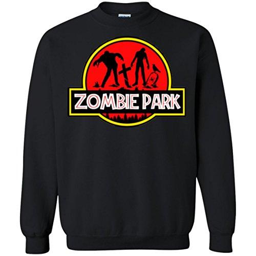 Zombie Park Jurassic Halloween Parody Sweatshirt