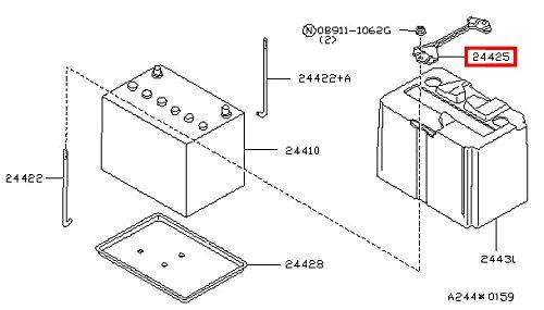 Infiniti Genuine Battery /& Battery Mounting Battery Fix Frame 24420-M6600 QX4 Q45 M30 J30 I30 G20 FX45//35